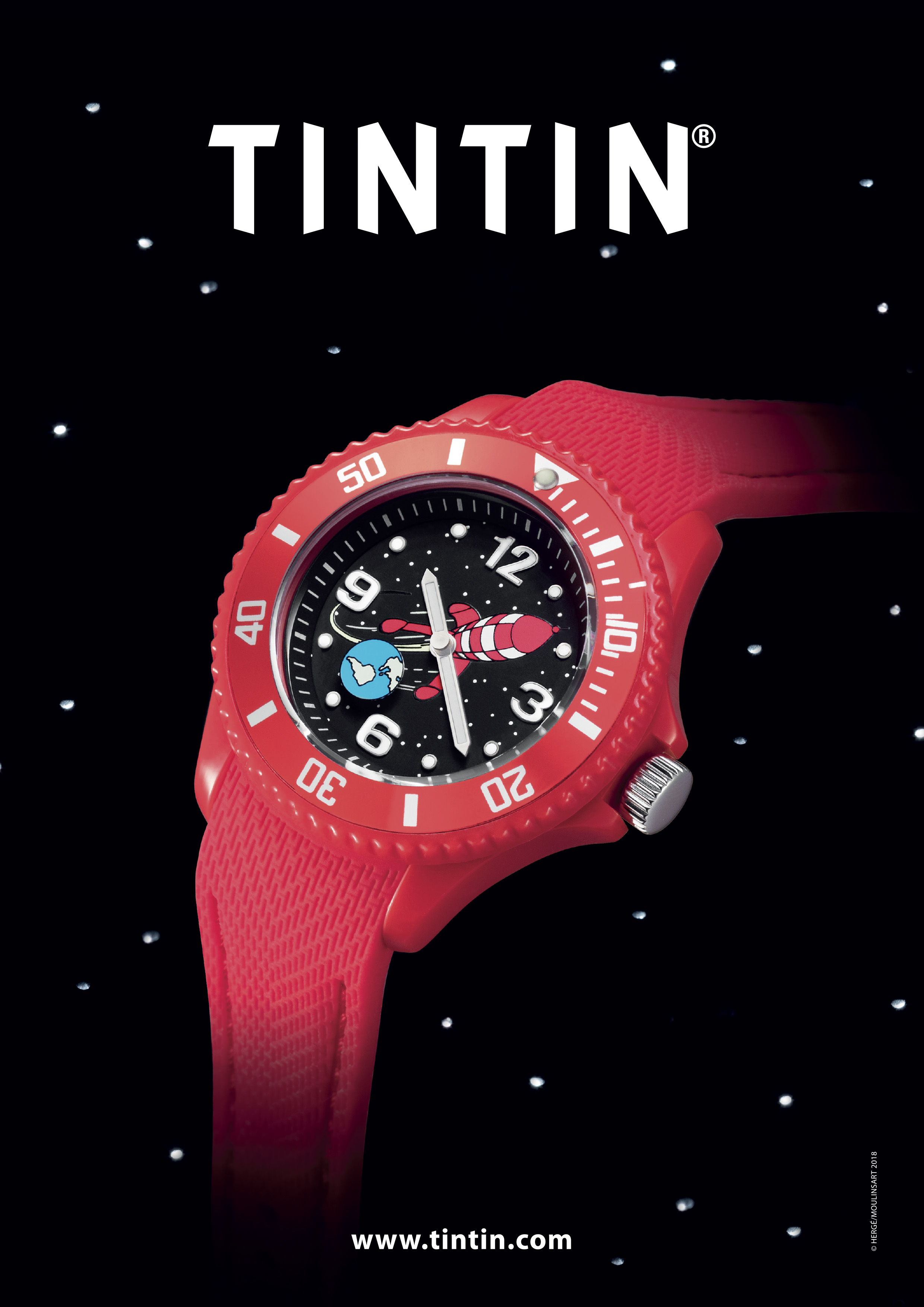 concept tintin montre rouge