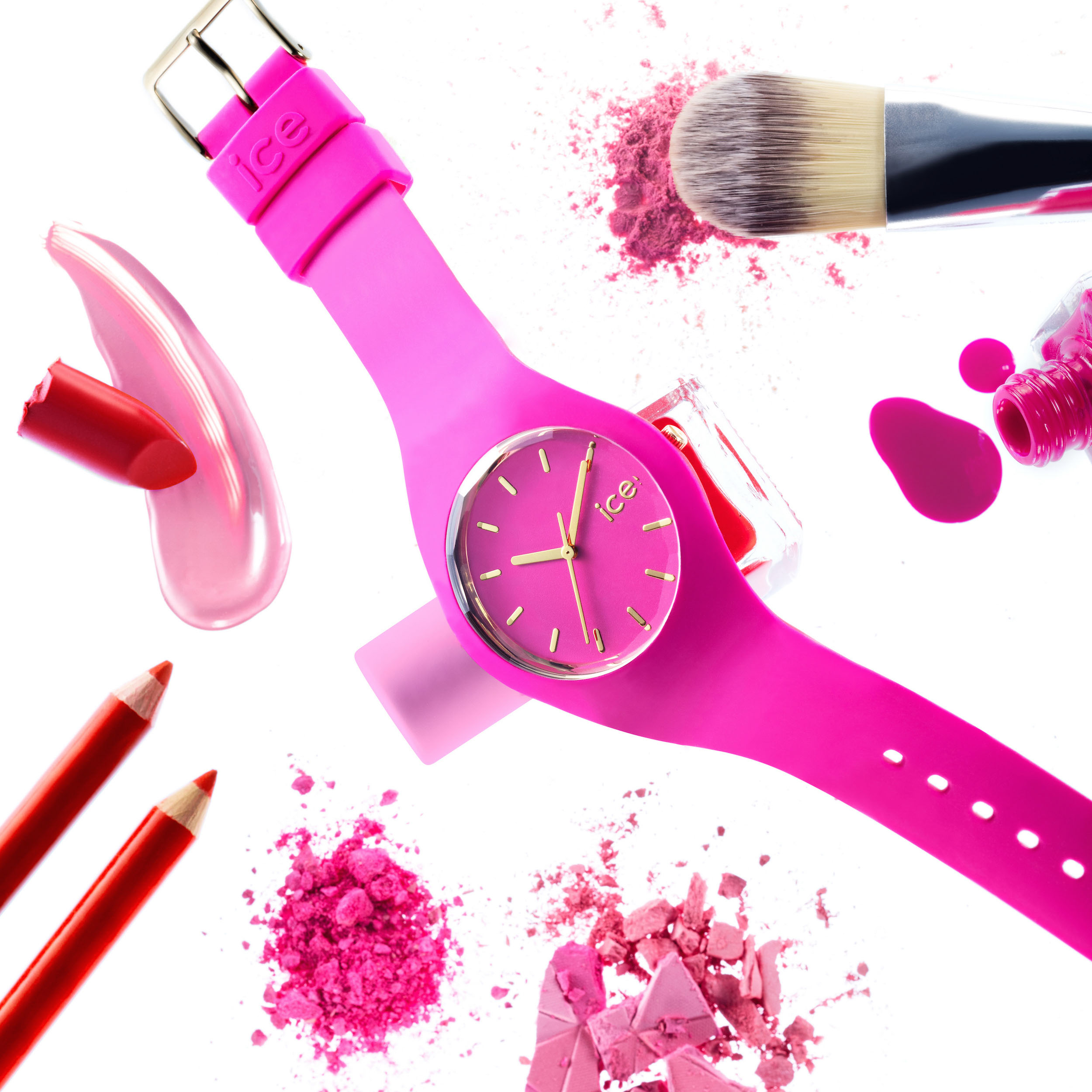 montres watches ice loulou pink