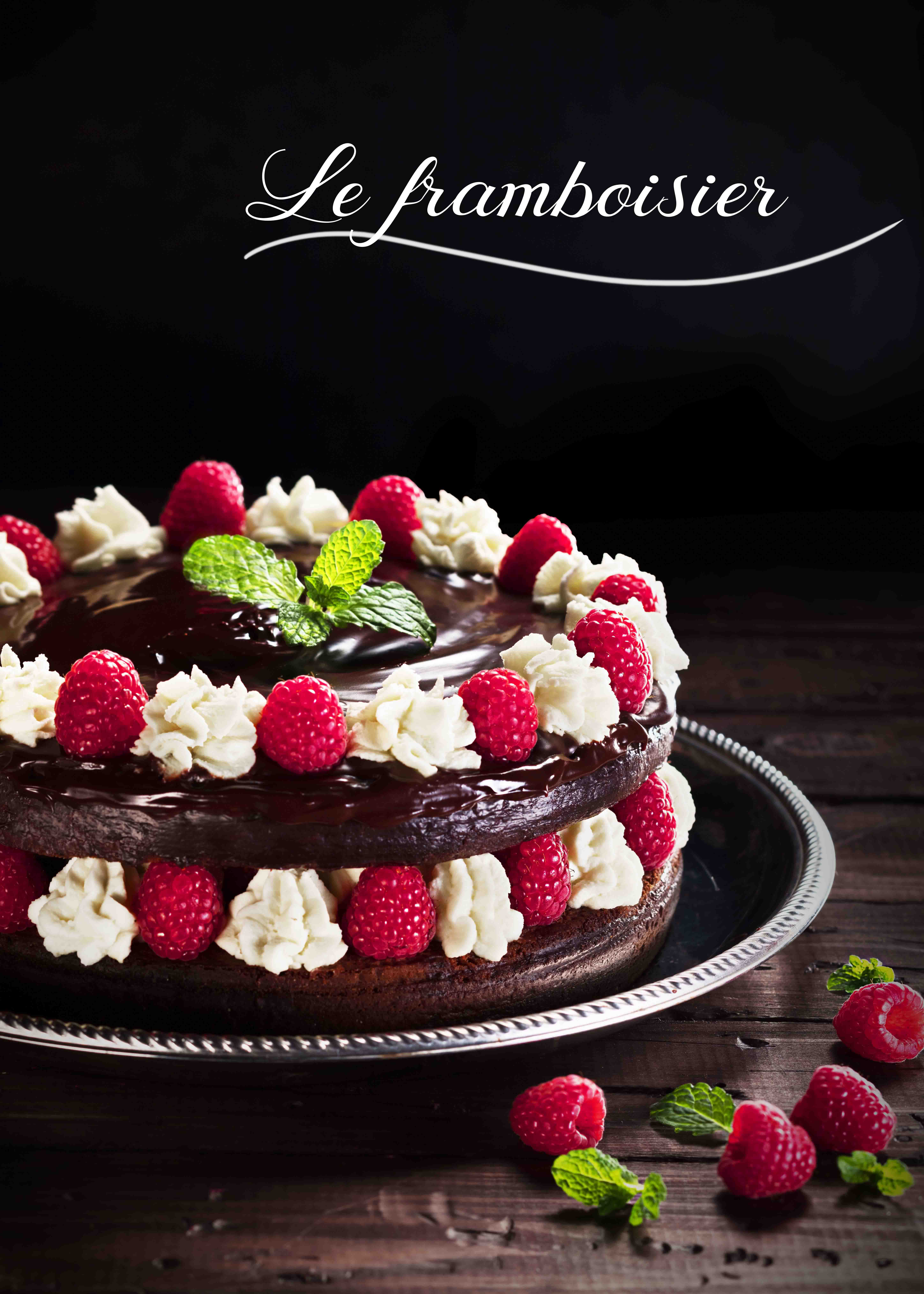 Photographie culinaire le framboisier