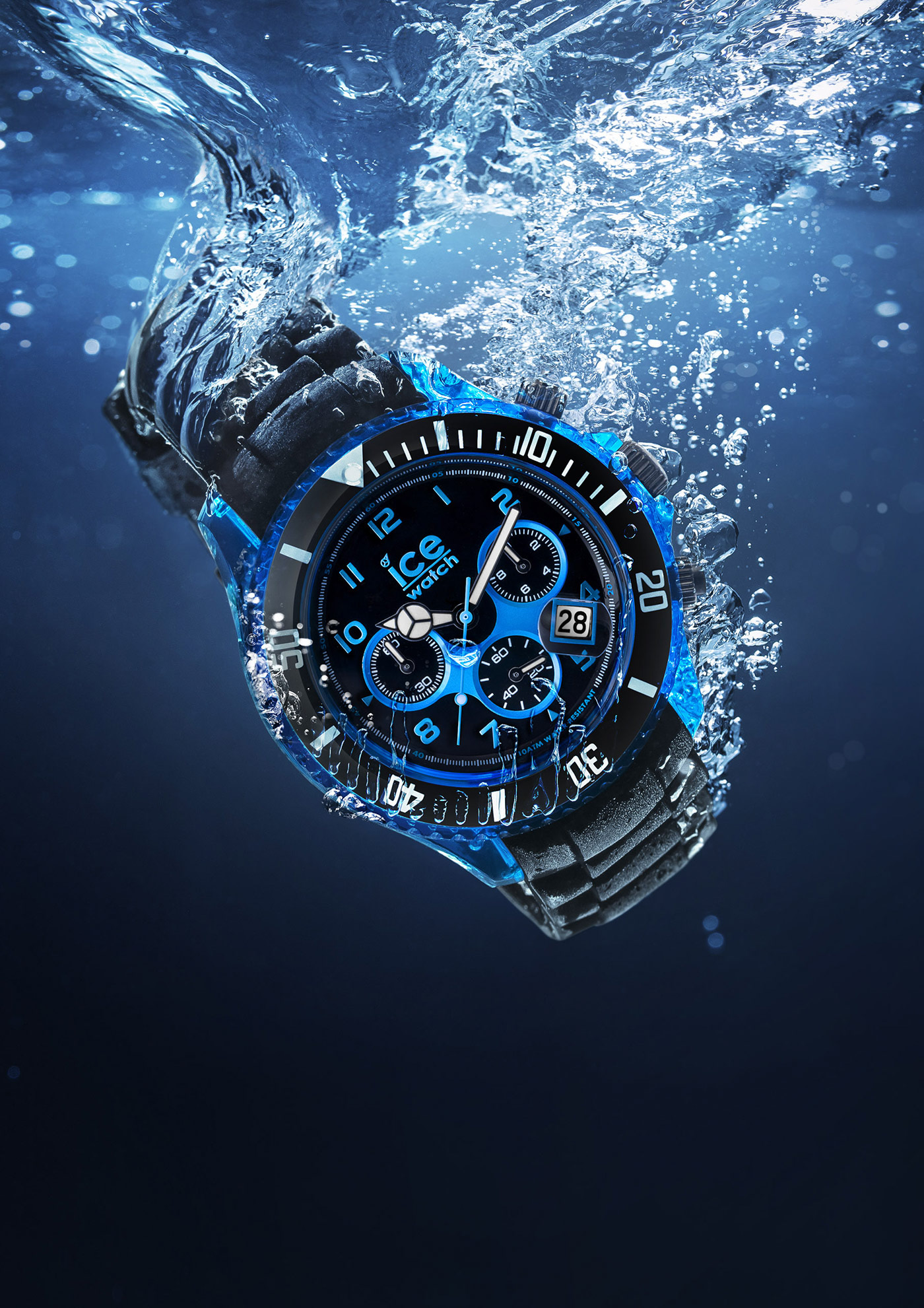 montres watches ice watch 10 atm water resistant blue