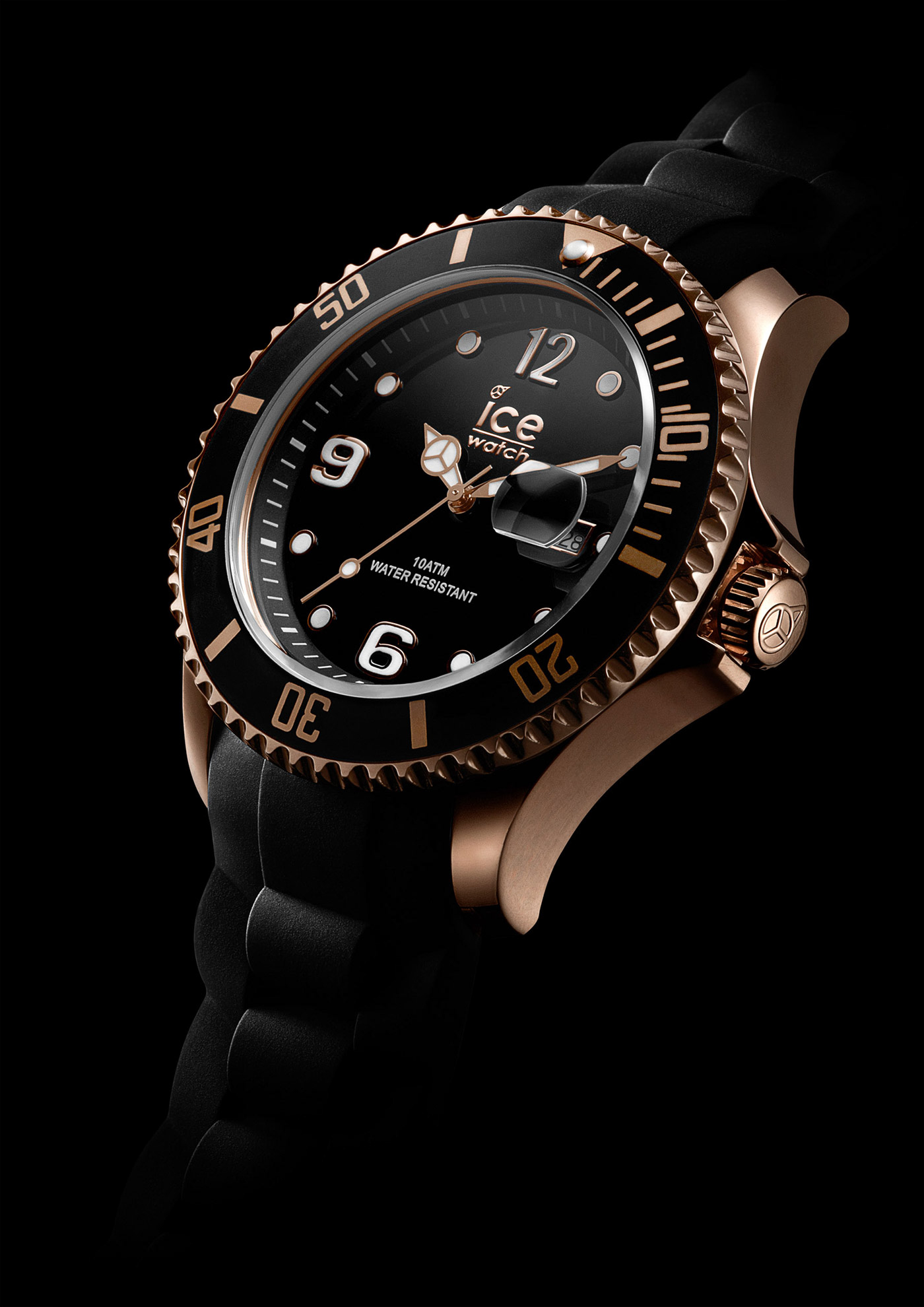 montres watches ice watch 10 atm water resistant black