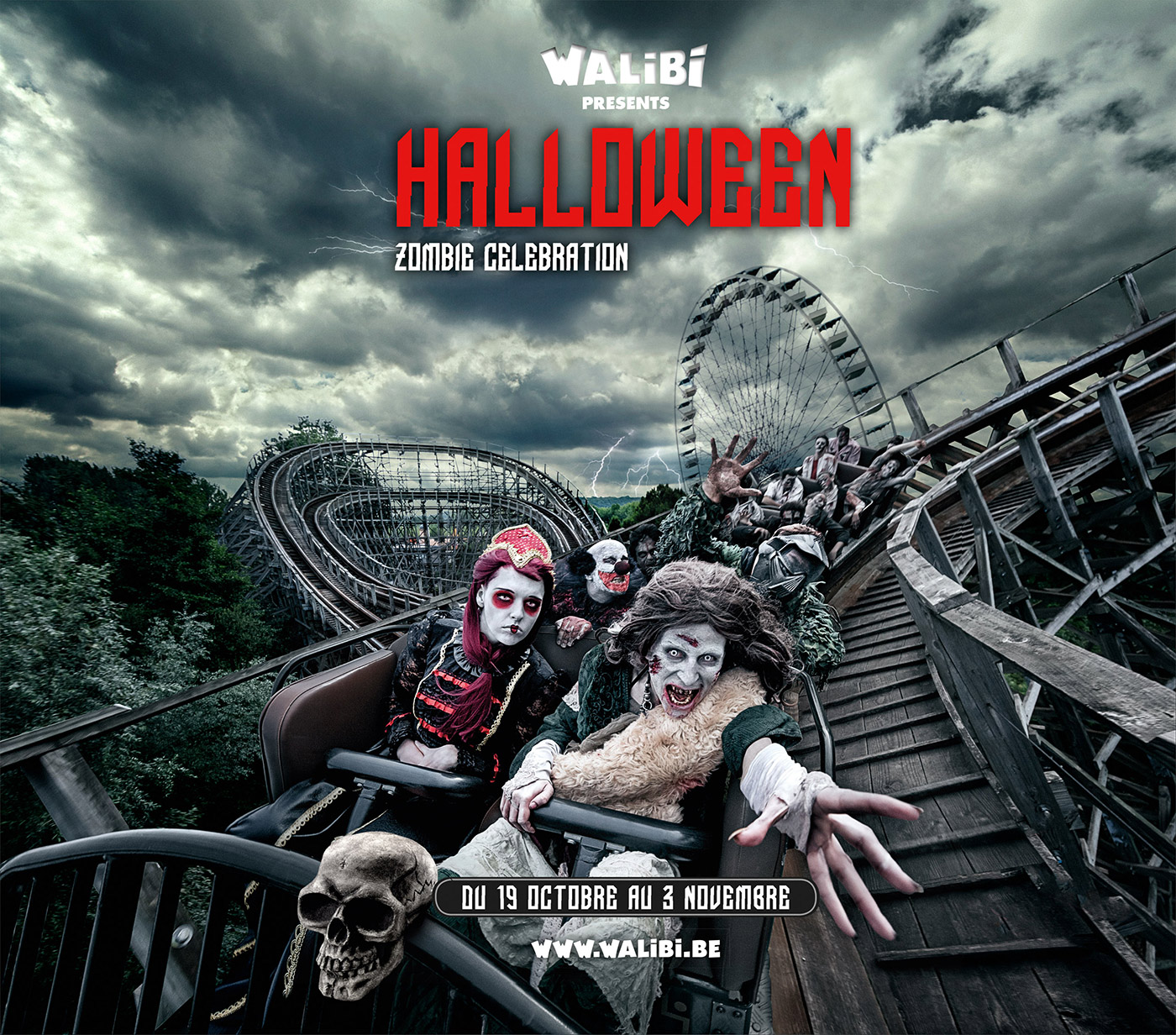 walibi halloween zombie celebration