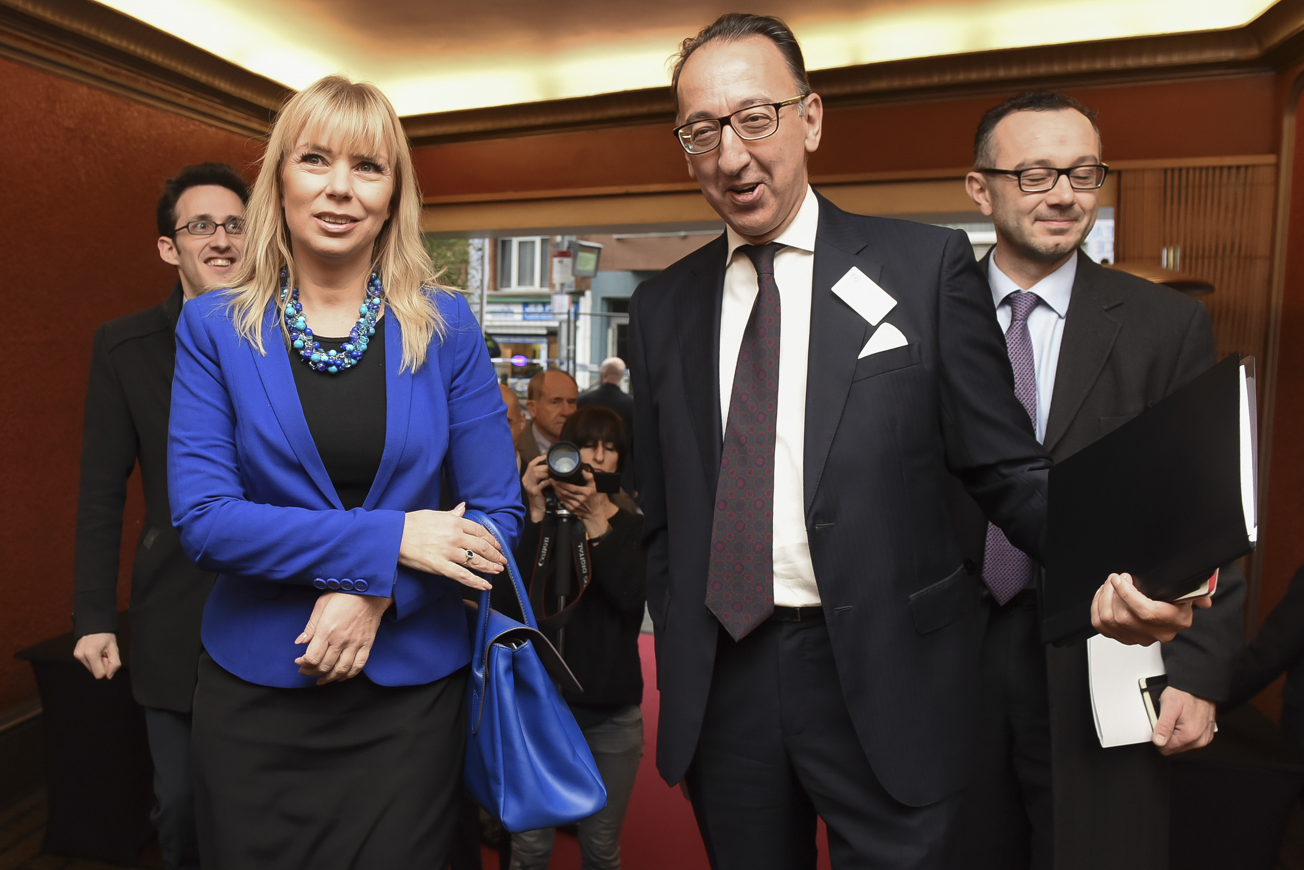 Jorge Domecq, Chief Executive of the EDA, and Elżbieta Bieńkow